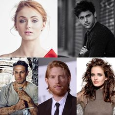 Fancast for ACOTAR  Sophie Turner as Feyre. Matthew Daddario as Rhys. Charlie Hunnam as Tamlin. Domhnall glesson as Lucien. Eva Green as Amarantha (I saw this one already and thought it was good) #ACOTAR #ACOMAF #feyre #rhysand #tamlin