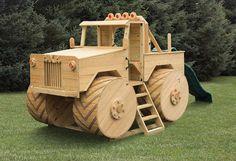 Wooden Monster Truck Playground