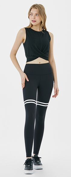 These mid-rise ankle leggings with superior comfort and softness feature two stripes in contrasting colors around the thigh, adding sporty appeal. Pet Cafe, Round The World Trip, Athleisure Wear, Thighs, Contrast, Mirror Selfies, Sporty, Stripes, Leggings