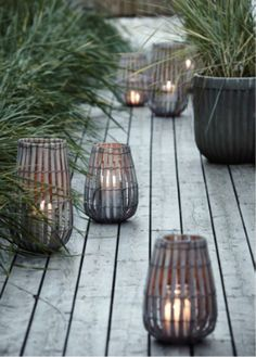 Bamboo Lantern | linen and milk