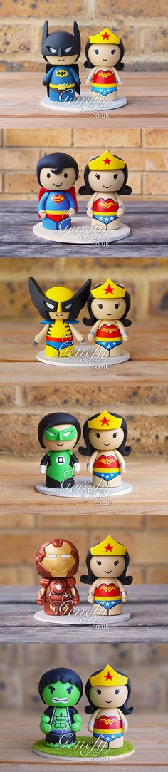 Batman-Superman-Wolverine Green-Lantern-Ironman-Hulk with Wonder Woman by Genefy Playground https://www.facebook.com/genefyplayground