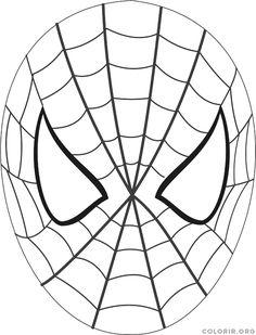 Resultado de imagem para para imprimir mascara do homem aranha