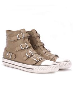 Her Kicks Can Kick! H BY HUDSON Hanwell Suede Ankle Boots - Khaki Women's High Top Running Shoe Sports Summer Trends 2014 the-dressingroom.com