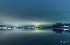 Photograph Foggy cityscape with blue moment in Finland by Markus Hovikoski - Mac's Photography on 500px