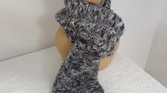 Scarf neckwarmer Crocheted gray shimmer Unisex by softtotouch