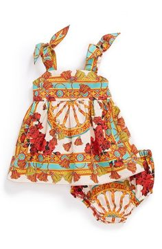 Dolce&Gabbana Cotton Print Dress & Bloomers (Baby Girls) available at #Nordstrom