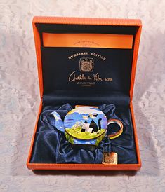 Charlotte Di Vita Teapot, Rosina Wachtmeister, Trade Plus Aid Collectible Miniature, Numbered Edition Collectible Tea Sets Vintage, Tea Pots, Numbers, Charlotte, Miniatures, Black And White, Cats, Collection, Bananas