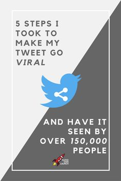 Getting noticed on Twitter is hard. Here are the 5 steps I used to get my tweet to go viral. via @pattitudez