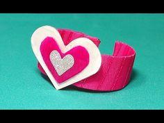 SUPER EASY DIY bracelet for Valentine's day from plastic bottle and nail enamel. DIY gift.