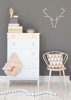 : Home >> Pastel Interior Styling ~ Loving the deer head Interior Pastel, Interior Styling, Interior Design, Stylish Interior, Nordic Interior, Interior Colors, Interior Livingroom, Girl Room, Girls Bedroom