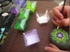 How to make Mandala Dot art on sea stones - YouTube