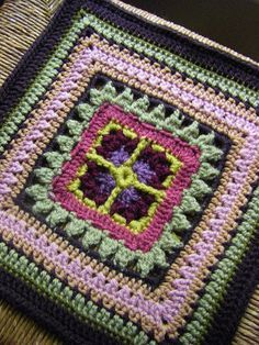"The Efflorescent Window 12"" square ~ free pattern"
