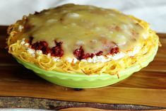 Spaghetti Pie - Will change ingredients to make a healthier version.