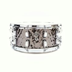Liberty Drums 14x6.5 Bashed Nickel over brass snare drum.