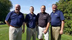 JIm Wendland, Trevor Schmalzried, Matt Seelye, & Steve Brown at the Petoskey Chamber Golf Outting. Trevor won closest to the pin on hole #5!