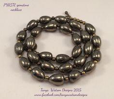 PYRITE gemstone  necklace  FREE Bonus by TanyaWatsonDesigns
