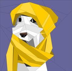 Winter Dog by QuiltArtDesigns - Craftsy