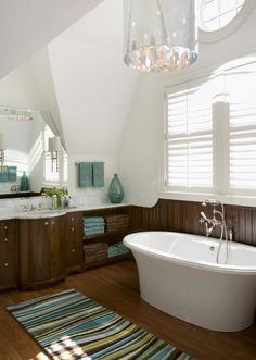 want this color scheme for bathroom next year, only with more of a Tiffany blue and less brown