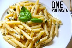 ONE POT PASTA! The only pasta recipe you'll ever need!