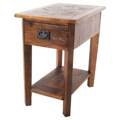 Revive Chairside Table Reclaimed Wood/Natural - Alaterre : Target