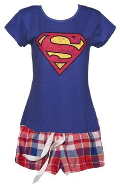 more superman pajamas by curlycutie1 ❤ liked on Polyvore featuring American Eagle Outfitters, Fabric Flavours, womens clothing, women, female, woman, misses and juniors