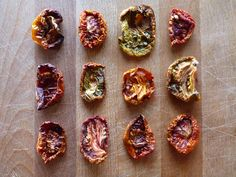 Tangy oven dried heirloom tomatoes.