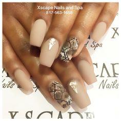 Snakeskin nail designs/nude nail designs