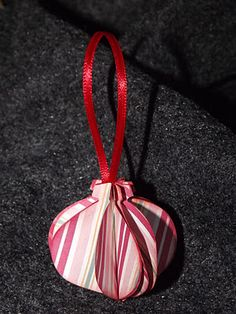 Handmade ornaments from an annual ornament exchange