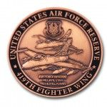 419th Fighter Wing 3D Coin