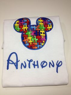 Autism awareness Disney Shirt Personalized by CreativeLifeboutique, $20.00