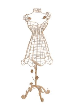 17&quot Iron Metal Dress Form Mannequin Jewelry Stand by MHCINC ...