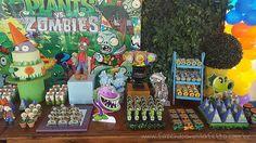 Uma festa incrível! Vem se inspirar na super festa Plants vs Zombies, várias ideias para você usar na sua festa com o tema! Clique e confira!