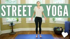 Street Yoga - Yoga You Can Do Anywhere! Or, yoga that you can take off your mat and into the world. Crossfit Competitions, Free Yoga Videos, Yoga With Adriene, Yoga Holidays, Back Squats, Lunges, Kettlebell Swings, Live Fit, How To Start Yoga