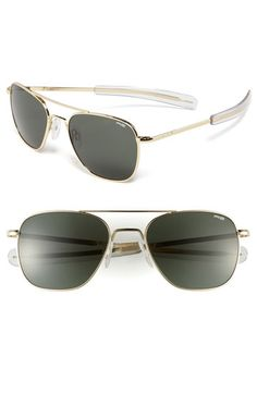 Randolph Engineering 55mm Aviator Sunglasses. Very nice. But I'm still a Ray Ban guy...