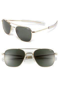 4ab4e40100 Randolph Engineering 55mm Aviator Sunglasses
