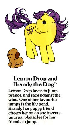 My Little Pony Lemon Drop with Brandy the dog fact file ...