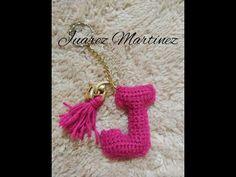 abecedario a crochet tamaño llavero (J) - YouTube
