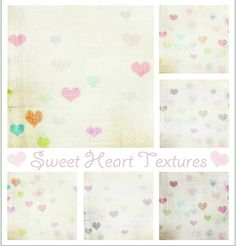 FREE Vintage Sweet Heart TEXTURES. Photoshop