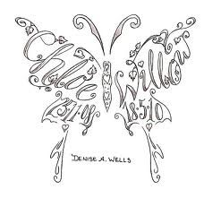 butterfly name tattoo-instead of a name, a quote?
