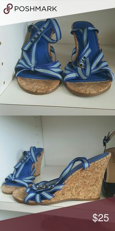 Blue wedges Euc maybe worn once GAP Shoes Wedges
