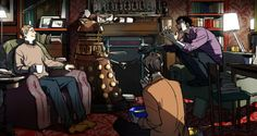 Sherlock Arguing with a Dalek. And 11 sitting there eating fish fingers and custard from a giant blue bowl. What more could a fangirl need? Answer: Nothing.