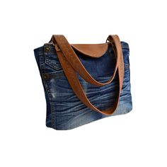 Sac porté épaule en jean et simili cuir couleur fauve mademoizailes.fr