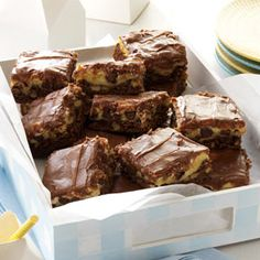 Broadway Brownie Bars Recipe from Taste of Home -- shared by Anne Frederick of New Hartford, New York
