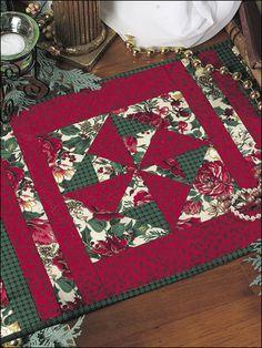 Quilting - Holiday & Seasonal Patterns - Christmas Patterns - Christmas Pinwheel Place Mat