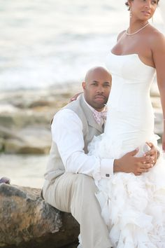 ❤ African American, Black Bride & Groom, Black Love - Black • L❤VE