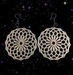 Maxi Brinco Mandala Octogonal ***Bijuterias personalizáveis, feitas através de impressora 3D
