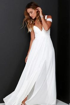 2c08dea3704 Lace White 3 4 Sleeve Maxi Dress. See more. The Lovely Find  Adriane Chiffon  Wedding Dress  310.00 Cheap Vintage Wedding Dresses