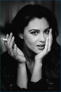 """Hot Smoking Pictures of Italian Hottie Monica Bellucci. The New """"Bond Woman"""" is smoking hot…. Find the rest of photo at Monica Bellucci Smoking Photo Compilation Women Smoking, Girl Smoking, Smoking Pit, Most Beautiful Women, Beautiful People, Italian Actress, Poses, Timeless Beauty, Belle Photo"""