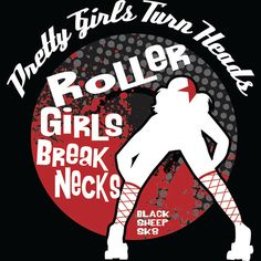 Hoodie Pretty Girls Turn Heads Roller Girls by blacksheepclothing, $40.00