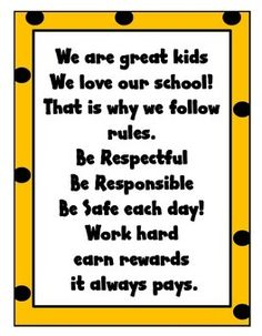 Hmm this would be good for PBIS using our bear rules. Say with morning announcements? Classroom Chants, Classroom Welcome, Fun Classroom Activities, Classroom Behavior, Classroom Rules, School Classroom, Classroom Management, Class Management, Behavior Management
